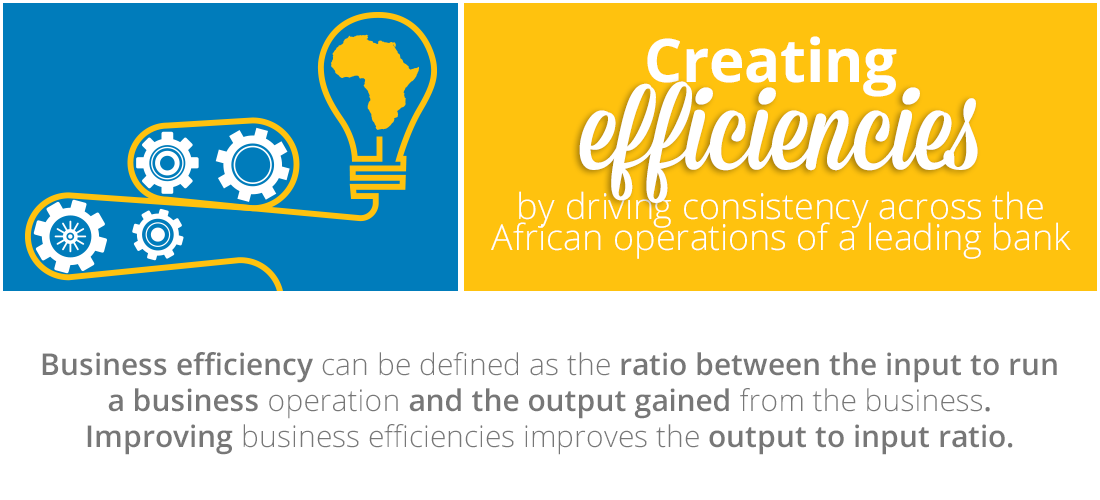 Case Study: Creating efficiencies by driving consistency across a bank's African operations