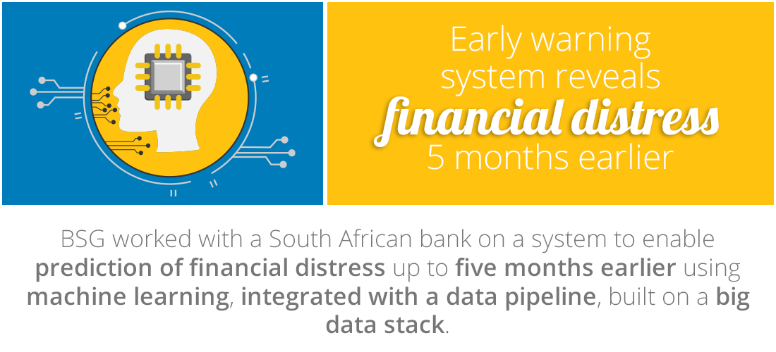 Case Study: Early warning system reveals financial distress 5 months earlier than normal