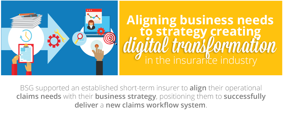 Case Study: Aligning business needs to strategy to create digital transformation in the insurance industry
