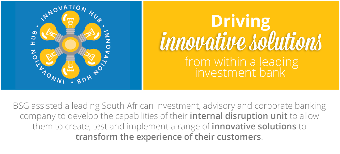 Case Study: Driving innovative solutions from within a leading investment bank