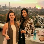 Talia Sehayik from LinkedIn with Hina Soni from BSG at the LinkedIn Talent Awards in Sandton
